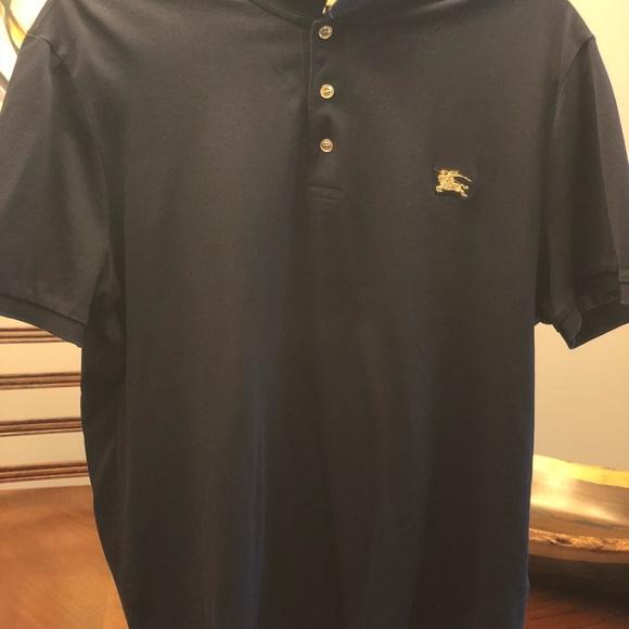539a4dd2 Burberry Shirts | Polo Gold Metal Emblem | Poshmark
